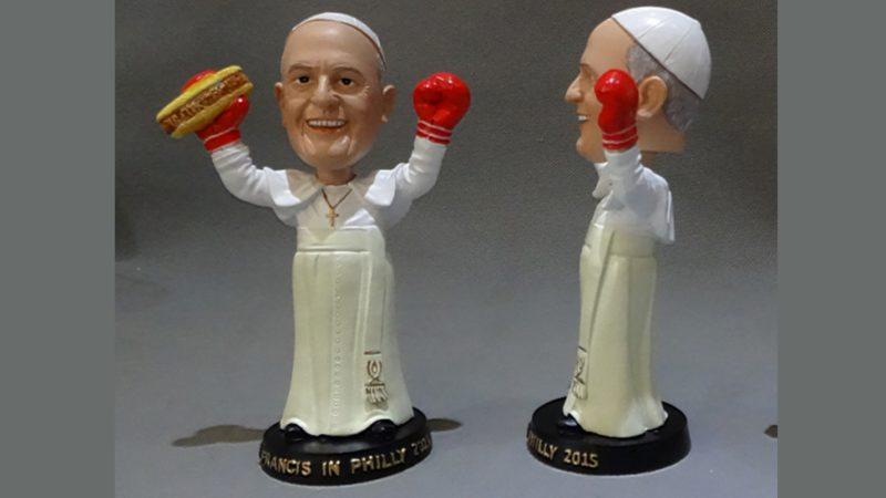 Le merchandising autour du pape François s'est déchaîné aux Philippines (photo DR)