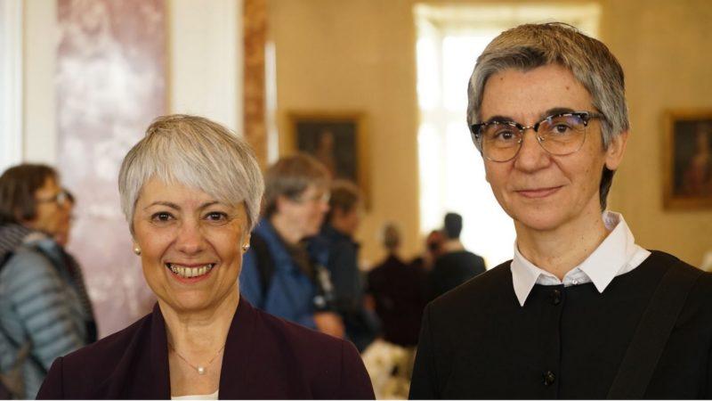 La théologienne croate Jadranka Rebeka Anić, la bibliste espagnole Mercedes Navarro Puerto, lauréate du Prix Herbert Haag 2017 (photo fondation Herbert Haag)