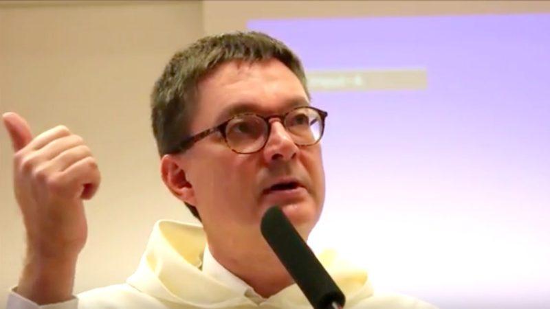 Père dominicain Gilles Emery, professeur à la Faculté de théologie de l'Université de Fribourg (Photo: Capture d'écran)