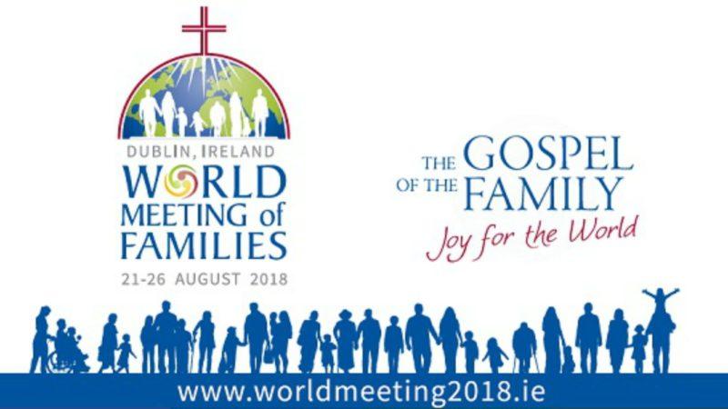 Rencontre mondiale des familles en août 2018 à Dublin (Illustration: www.worldmeeting2018.ie)