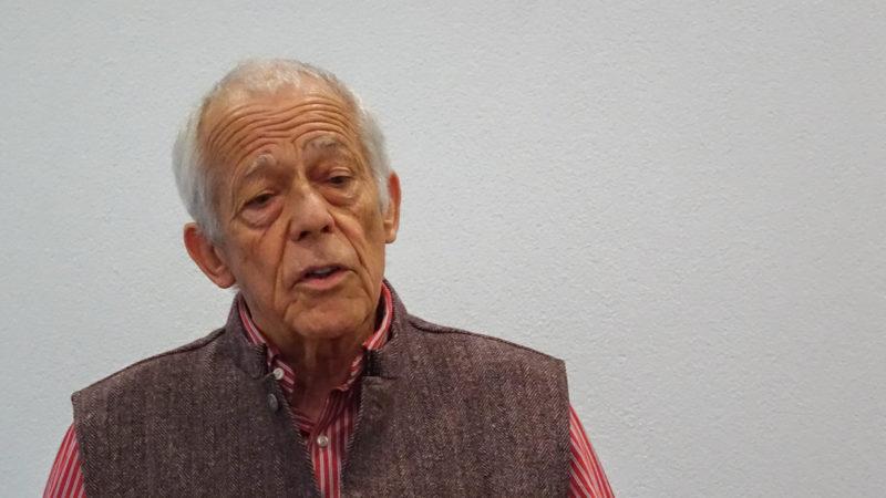 L'acteur et auteur Jean Winiger a composé un parcours à la rencontre de Frère Nicolas (photo Maurice Page)