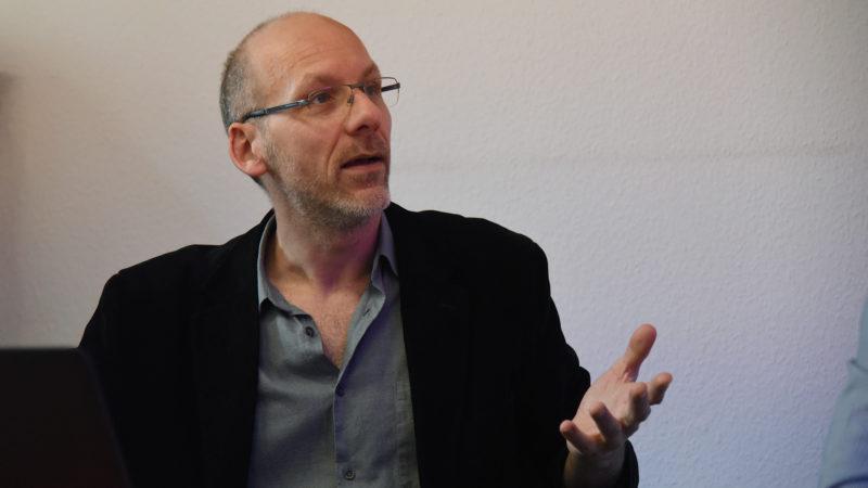 Fabien Hunenberger, chef du service radio de Cath-Info (photo Pierre Pistoletti)