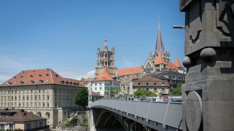 La cathédrale de Lausanne, consacrée en 1275, réformée depuis 1536. (Photo: Pierre Pistoletti)
