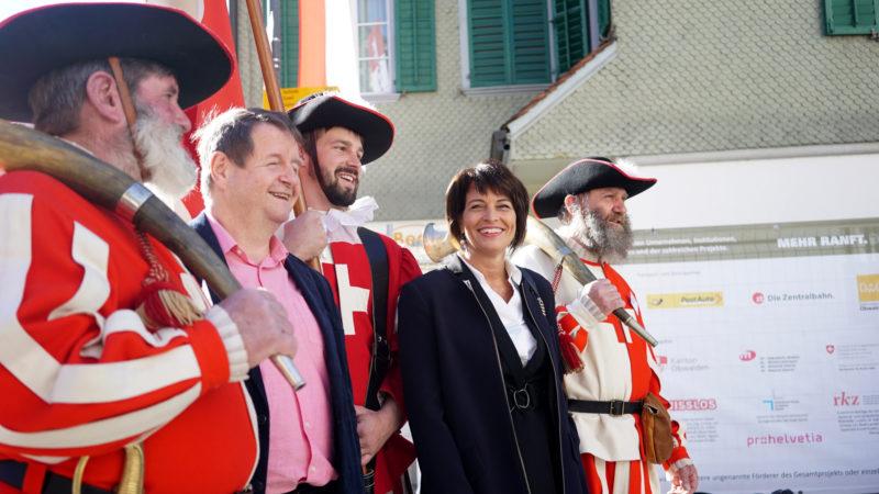 La présidente de la Confédération Doris Leuthard a souligné l'héritage de Nicolas de Flüe (Photo:Vera Rüttimann)