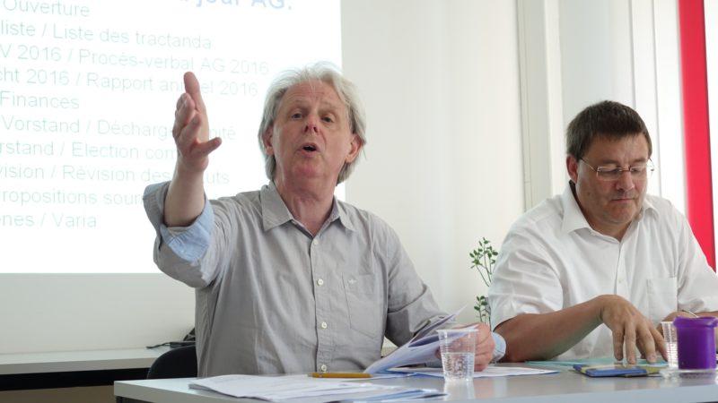 Markus Vögtlin, président de l'Association catholique suisse pour la presse (ACSP) et l'administrateur Melchior Etlin (photo Maurice Page)