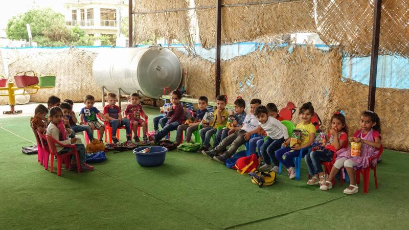 Les enfants chrétiens du camp d'Ankawa - Ashti 2  ne parlent qu'araméen (photo Maurice Page)