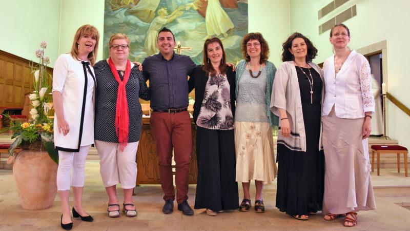 Diplômés de l'IFM 2017 (de g. à d.): Elisabeth Beaud, Brigitte Latscha-Beuchat, João Alves-Carita, Véronique Marchon, Véronique Müller-Girard, Micheline Fischer, Bernadette Langlet. (Photo: Grégory Roth)