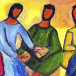 """""""Le pain que je donnerai, c'est ma chair, donnée pour la vie du monde."""" (illustration: Bernadette Lopez/Evangile et peinture)"""