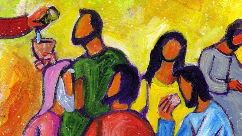 """""""(...) ) et même l'offrande d'un verre d'eau à un « petit – disciple » sera récompensée (42)"""". (Illustr.: B. Lopez/Evangile et peinture)"""