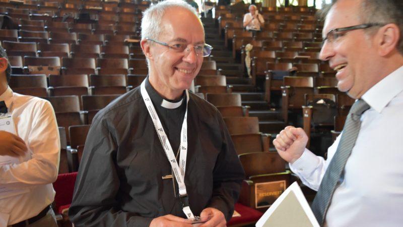 L'archevêque de Cantorbéry et primat de l'Eglise d'Angleterre Justin Welby à l'Université de Fribourg (Photo:  Jacques Berset)