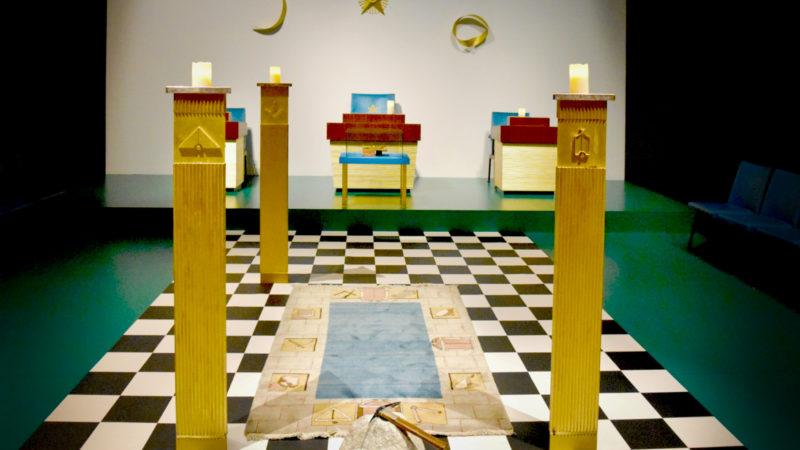Berne Exposition Top Secret – Les francs-maçons Réplique du temple de la Loge L'Espérance de Berne (Photo:  Jacques Berset)