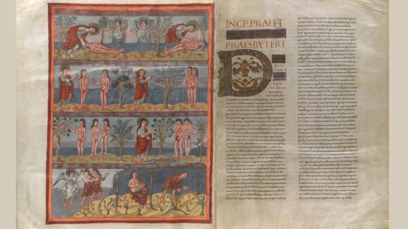 La Bible de Moutier-Grandval a été réalisée vers 835 au scriptorium de Saint-Martin de Tours