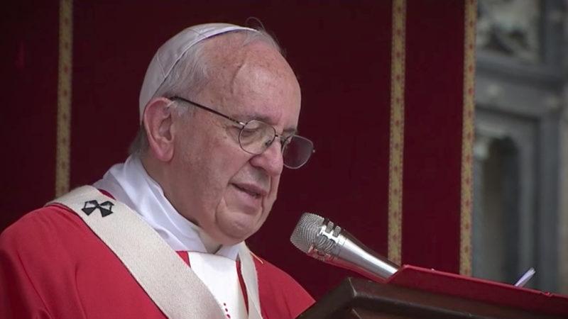 Le pape, lors de la fête de saints Pierre et Paul, le 29 juin 2017 (© CTV)