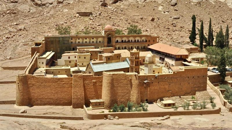 Le monastère de Sainte-Catherine, au pied du Mont Moïse, dans le Sinaï (Photo:  www.tripadvisor.com)