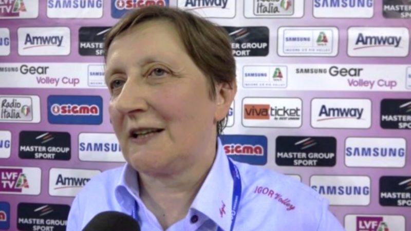 Soeur Giovanna Giovanna Saporiti, présidente de l'AGIL-Volley de Novarra (photo GdP)