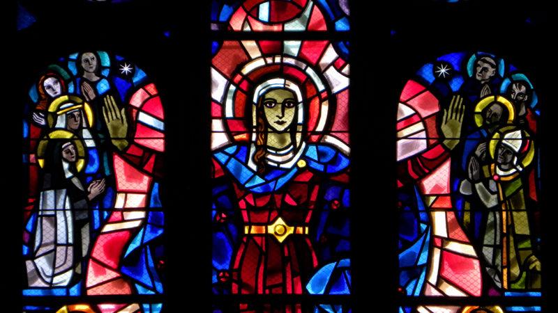 Cathédrale de Sion L'Assomption de Marie dans le ciel, d'Auguste Wanner  (Photo: Josef Sarbach)