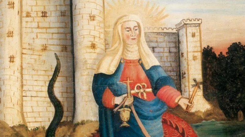 Représentation de sainte Marthe (XVIIIe siècle)