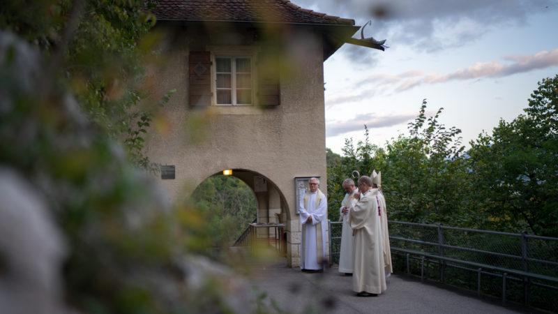 """Le sanctuaire marial jurassien devient le centre spirituel d'une grande retraite: la """"semaine du Vorbourg"""" (Photo: Pierre Pistoletti)"""