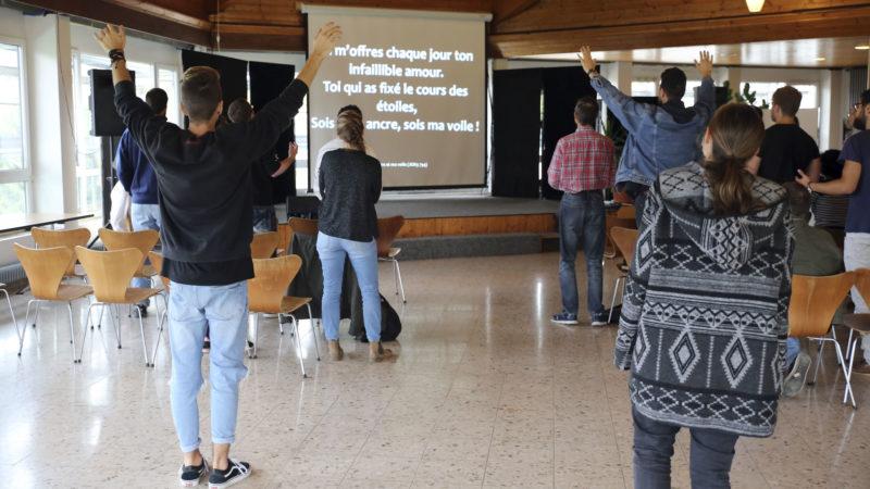 Le culte rassemble les étudiants de HET-PRO dans la matinée | © B. Hallet