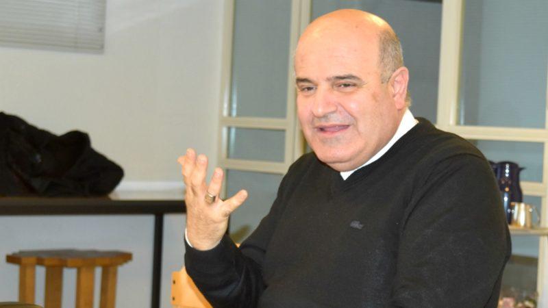 Mgr Georges Bacouni, archevêque  grec-catholique melkite d'Acre et président de l'Assemblée des Ordinaires catholiques de Terre Sainte | © Jacques Berset