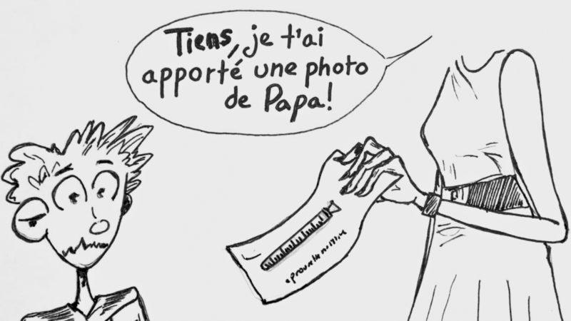 La figure du père sera de plus en plus absente dans le processus de la PMA (dessin:R.Zbinden)