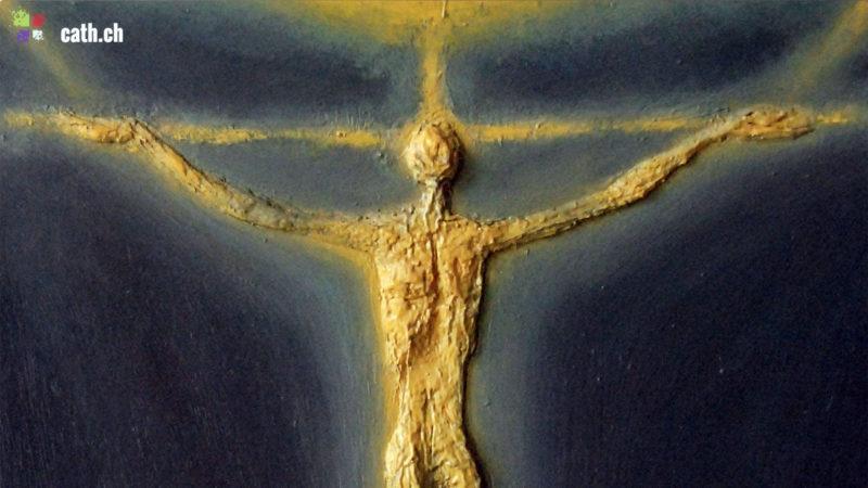 """Dès les années 1970, les """"Christs en Croix"""" d'Armand Niquille revêtent un corps glorieux. (Photo: G. Roth/Fondation A. Niquille)"""