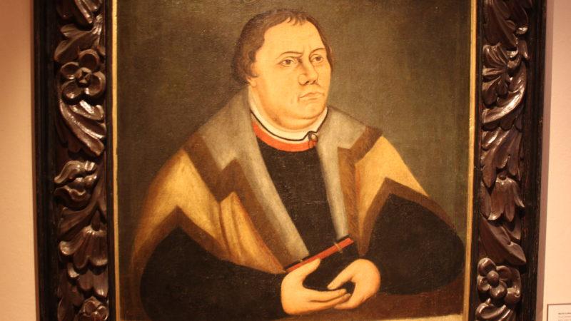 Portrait exposé à la Maison de Luther à Wittemberg (photo Bernard Litzler)