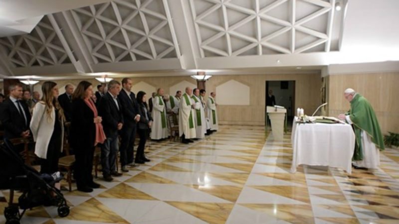 Le pape François préside la messe matinale à la chapelle de la Maison Sainte-Marthe (Photo:  Radio Vatican)
