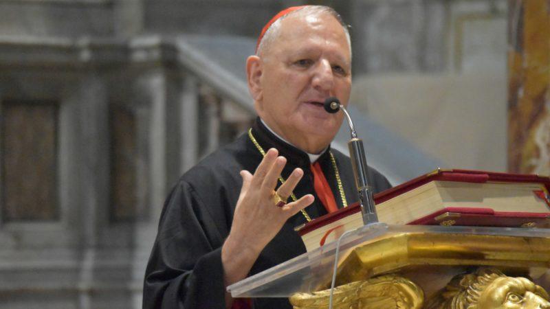 Le  patriarche chaldéen Louis Raphaël Sako plaide pour le retour des chrétiens de Mossoul et de la Plaine de Ninive | © Jacques Berset
