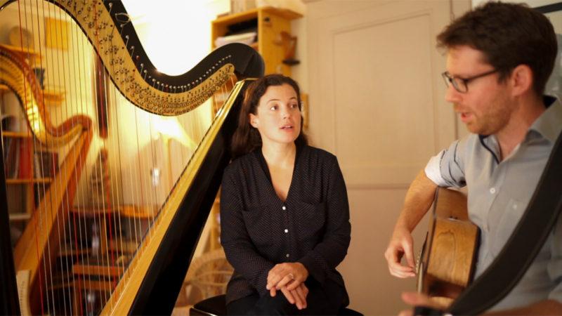 """Marie Frachebourg et Olivier Mottet publient l'album """"mes armes"""", inspiré des poèmes de la Petite Thérèse (Photo: Pierre Pistoletti)"""
