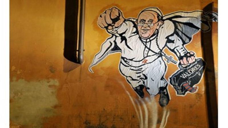 Le superpape de l'artiste de rue italien MauPal