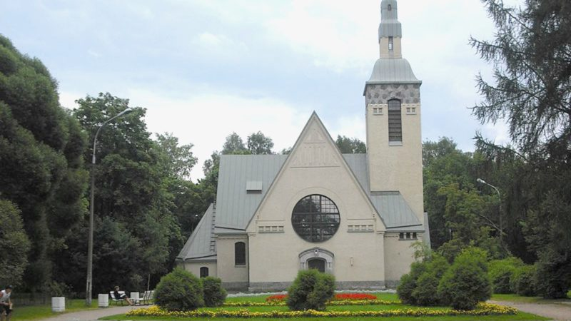 L'église luthérienne de Terijoki, dans l'Isthme de Carélie, dans un territoire cédé par la Finlande à l'URSS (Photo: Stoljaroff wikipedia)