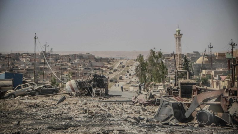 Scène de destruction à Tammuz, l'un des districts les plus importants de la ville de Mossoul, en Iraq. | ©ONU / OCHA / Themba Linden