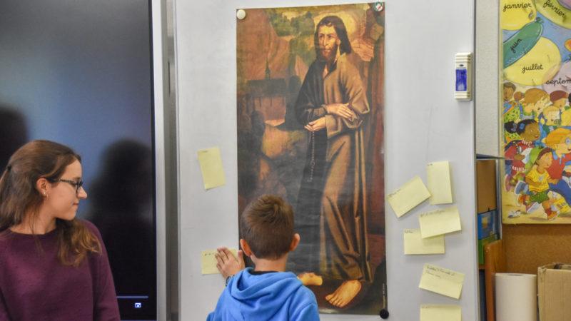 Le premier portrait peint de Nicolas de Flüe interpelle les écoliers de Martigny (Maurice Page)