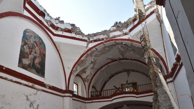 Coatetelco L'église Saint Jean-Baptiste détruite par le tremblement de terre ¦ © Jacques Berset