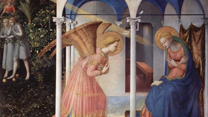 """l'Annonciation, dont l'art de Fra Angelico fait une """"irruption de l'extraordinaire dans l'ordinaire""""."""