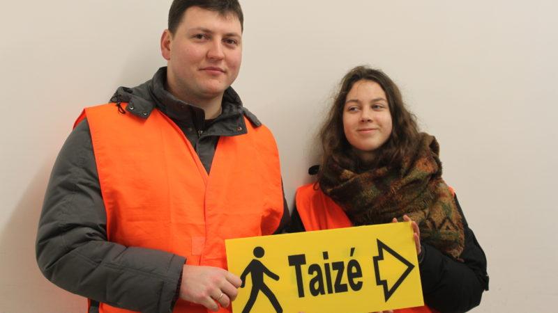 Accueil des jeunes de Taizé à la gare SNCF de Bâle, le 28 décembre 2017 ¦ © Bernard Litzler