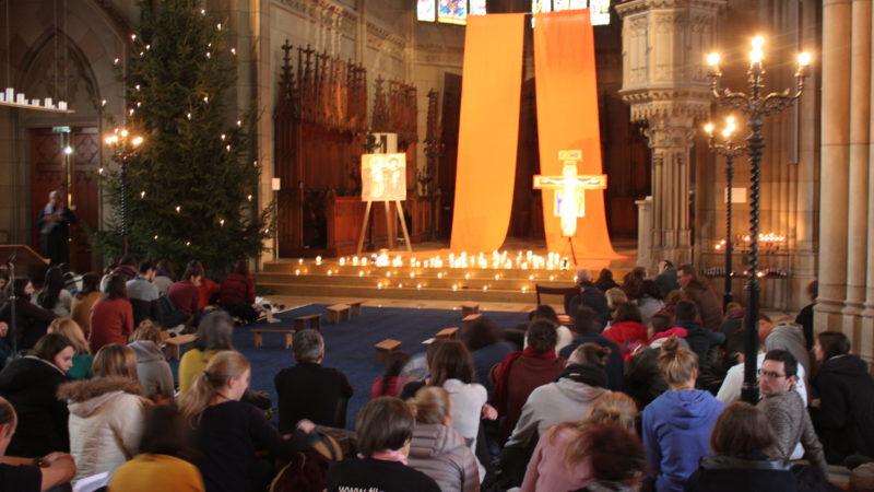 Prière de midi à l'Elisabethenkirche à Bâle, le 29 décembre 2017 ¦ © Bernard Litzler
