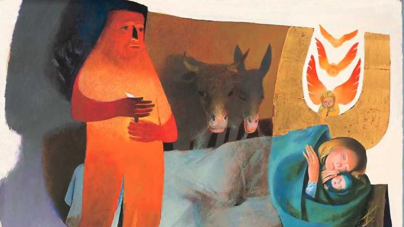 L'exposition à Bagnes comprend un polyptyque d'Arcabas sur l'enfance de Jésus | © Grégory Roth