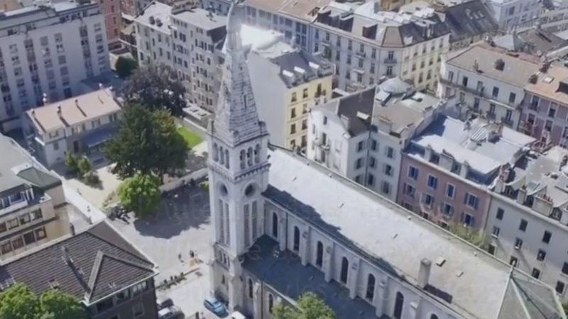 Il sera possible de payer la quête avec son smartphone à l'église Saint François, à Genève dès le 27 janvier 2017. | © Paroisse St François.
