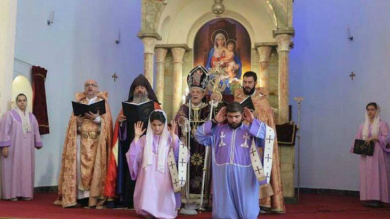Téhéran Ordination de la diaconesse de l'Eglise apostolique arménienne Ani-Kristi Manvelian (Capture d'écran)