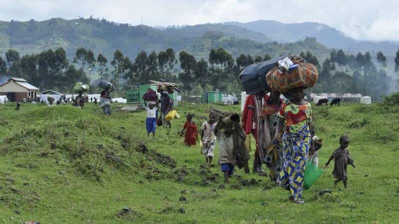 Congo RDC Réfugiés fuyant vers l'Ouganda | © UNHCR L. Beck