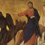 Jésus au désert, détail. Duccio di Buoninsegna vers 1310. | Domaine public.