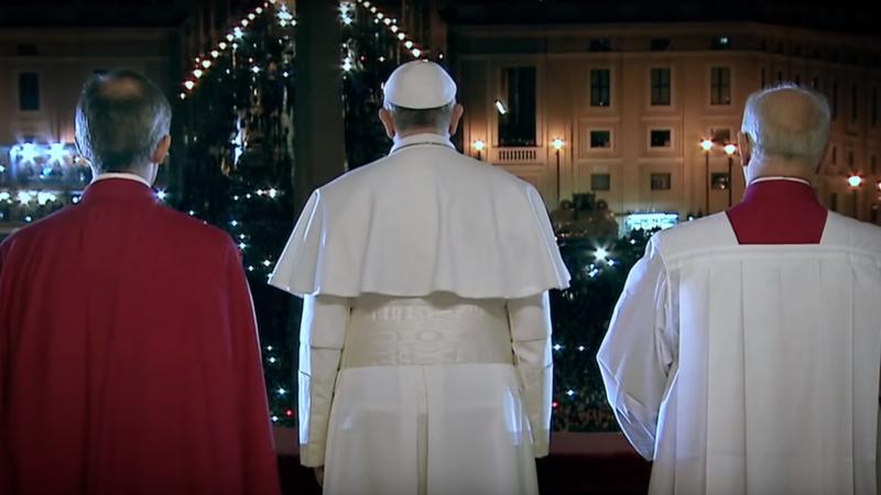 """Une image du film """"Le pape François, un homme de confiance"""", de Wim Wenders (capture d'écran YouTube)"""