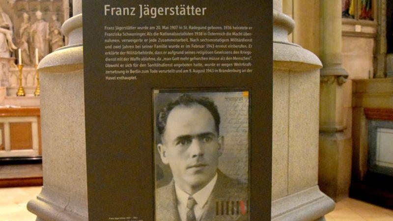 Dans une église de Linz, le souvenir de Franz Jägerstätter, l'objecteur de conscience décapité par les nazis  | © Jacques Berset