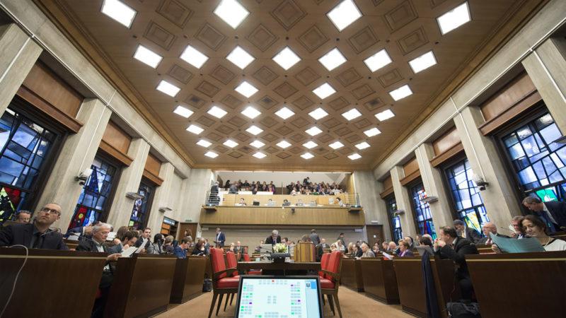 Le Grand conseil, ici en 2016, a adopté la loi sur la laïcité par 63 oui, 25 non et 3 abstentions. | © Keystone