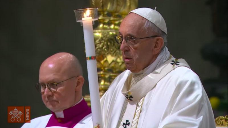 Le pape François a présidé, dans la nuit du 31 mars 2018 à la basilique Saint-Pierre au Vatican | © vaticannews.va