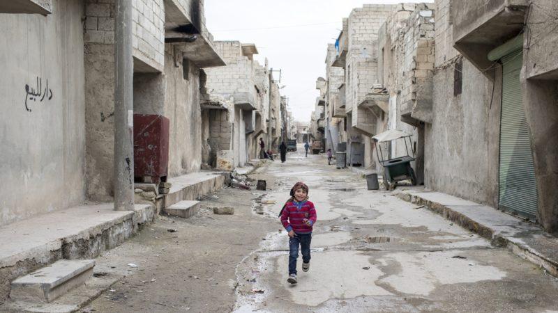 Dans le quartier Ard al-Hamra à Alep-ouest |  © Alexandra Wey/Caritas Suisse