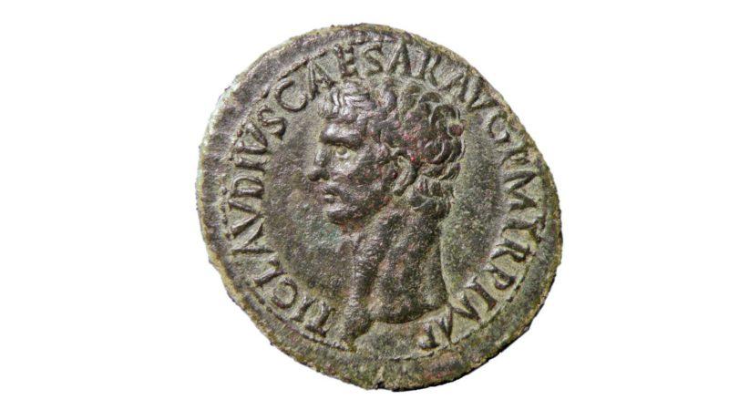 """""""Rendez dons  à César ce qui est à César, et à Dieu ce qui est à Dieu"""" / monnaie de l'empereur Claude"""