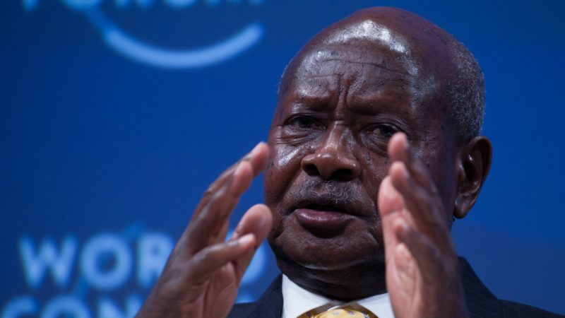 Le président ougandais Yoweri Museveni est accusé d'espionner l'Eglise catholique (Photo:WEF/Flickr/CC BY-NC-SA 2.0)